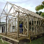 7 complete roof trusses
